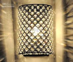 Battery Wall Lights Sconce Chic Sophisticate Crystal Torch Wall Sconce Wall Light