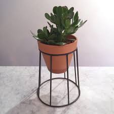 plant stand wireower stands modern yellow metal plant home decor