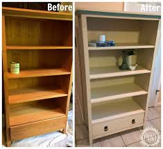 for love of the paint before and after pine bookcase