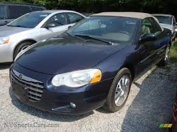 2004 chrysler sebring limited convertible in deep sapphire blue