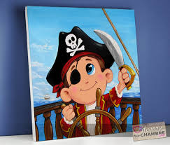 chambre enfant pirate tableau personnalisé pour chambre pirate vente tableaux enfant et