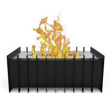 elite flame 12 inch ventless bio ethanol fireplace grate burner