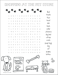 free printable halloween word search pet store word search printable fun for kids pinterest