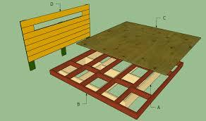 Platform King Bed Frames Platform Bed Frame Plans Howtospecialist How To Build Step By