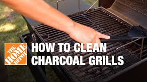 how to clean a charcoal grill youtube