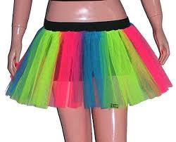 party city halloween tutus amazon com plus size uv multi rainbow tutu skirt basic party emo