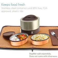 Lunch Storage Containers For Adults Vaya Tyffyn 600 Ml Insulated Lunch Box Stainless Steel Leak