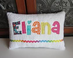 personalized pillows for baby custom name pillow etsy