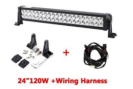 24 inch led light bar offroad amazon com richsolar 120w 24 inch led light bar work lights flood