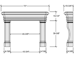 Standard Fireplace Dimensions by Fireplace Dimensions Garden Design