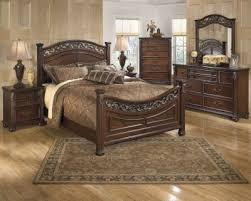 ashley king bedroom sets ashley leahlyn 4 piece king bedroom set homemakers furniture