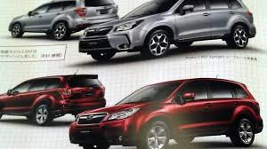subaru forester boxer engine 2014 subaru forester revealed in leaked brochure