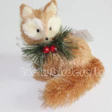 2015 fox decoration straw fox handmade fox