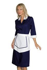 une femme de chambre ensemble femme de chambre blouse et tablier bleu blanc