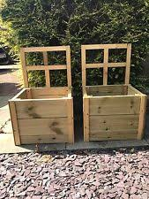 Wooden Planter With Trellis Wooden Planters With Trellis Ebay