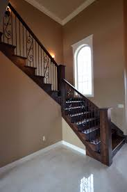 stairs steps and railings interior custom homes by tompkins