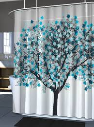 Shower Curtains With Trees Blue Tree Shower Curtain Bathroom Vinyl Curtains Home Decor Leaves
