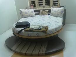 6 4 white wooden round bed rs 17500 piece siddhivinayak steel