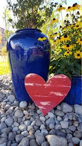 rustic wood heart chippy paint heart large wood heart wood