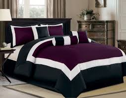 Black And Purple Bed Sets Bedroom Sheet Purple Flower Pictorial Bed Cover With Purple Duvet