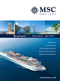 msc 119 day cruise msc cruises march 2016 april 2017 by cfc križarjenja issuu