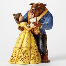 moonlight waltz 25th anniversary belle and beast dancing figurine