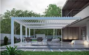 Sunscreen Patios And Pergolas by Pergolouver Self Standing Patio Systems U0026 Pergolas Alutex