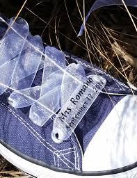 personalized wedding ribbon custom wedding converse ribbon laces personalized