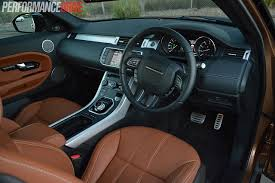 suv range rover interior 2014 range rover evoque si4 review video performancedrive
