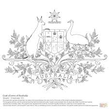 australian coat of arms coloring page free printable coloring pages