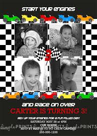 race cars printable birthday invitation dimple prints shop