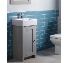 Bathroom Sink Vanity Units Lansdown 400mm Cloakroom Vanity Unit Basin Pebble Grey Lan400c