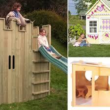 Wooden Backyard Playhouse Outdoor Wooden Playhouses Popsugar Moms