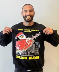 bling bling men u0027s ugly christmas sweater u2013 snowtorious