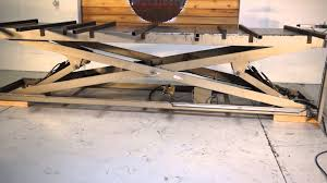 motorcycle lift table plans 8000 lb hydraulic scissor lift table 4 x 16 youtube