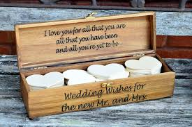wedding wishes box personalized wedding wishing well with hearts wedding country