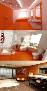 orange bathroom ideas orange wall decorcharming small bathroom with orange wall decor