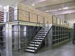 warehouse storage mezzanine racking system