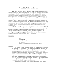 formal lab report template 4 formal lab report format high school financial statement form