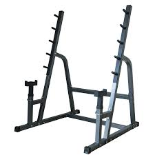 Squat Rack And Bench Deluxe Combo Squat Bench Rack Fitness Exercise Equipment Safety