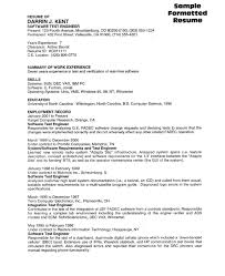 Qtp Sample Resume For Software Testers by Key Skills Examples For Resume Sample Resume References Page