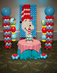 dr seuss balloons dr seuus and friends birthday party ideas balloon backdrop