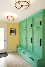 furniture green painted solid wood mudroom locker without shelves
