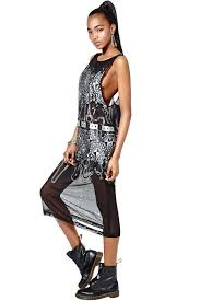 nasty gal collection chaos theory mesh maxi dress in black lyst