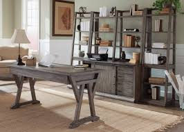 Bf Myers Warehouse by Liberty Furniture Stone Brook 5 Piece Desk With Distressed Wood