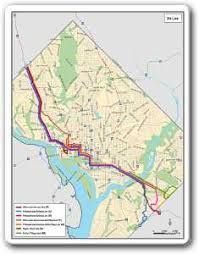 washington dc metrobus map metrobus service evaluation studies 70s line and 30s line