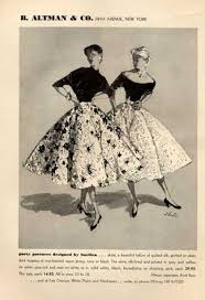 vintage clothes fashion ads of the 1950s