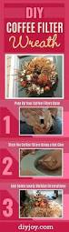 watch the clever things she makes this captivating fall wreath out how to make a coffee filter wreath best easy wreath for your door cheap