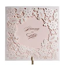 wishmade arrival laser cut embossed red gold white lace wedding