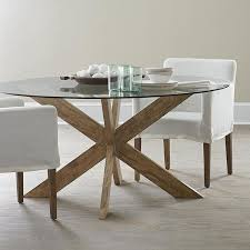 x base dining table in brown